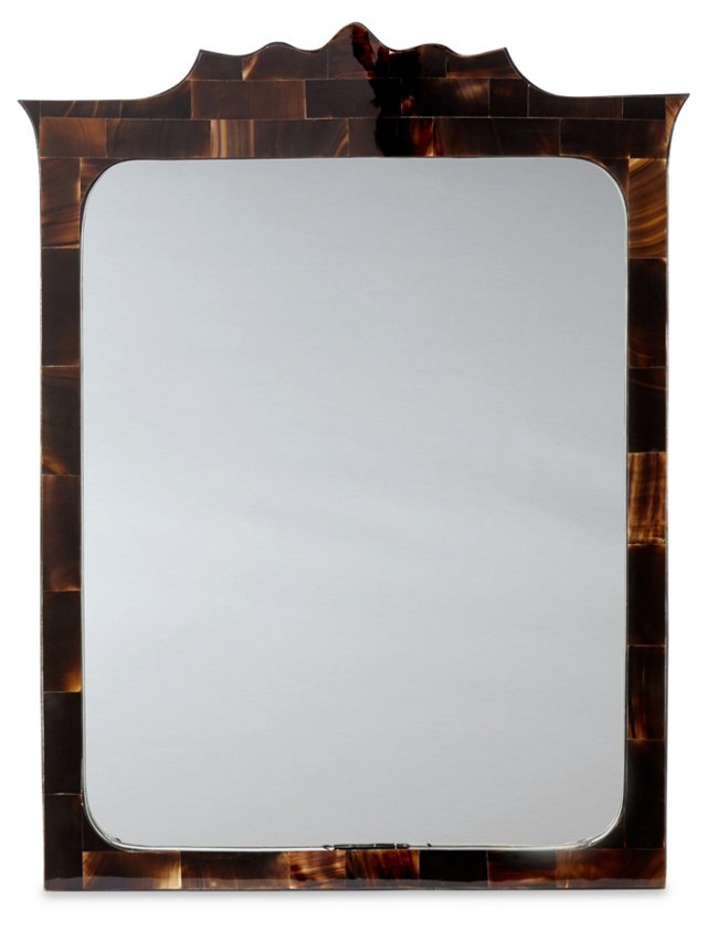 Waterbury Horn Wall Mirror, Espresso
