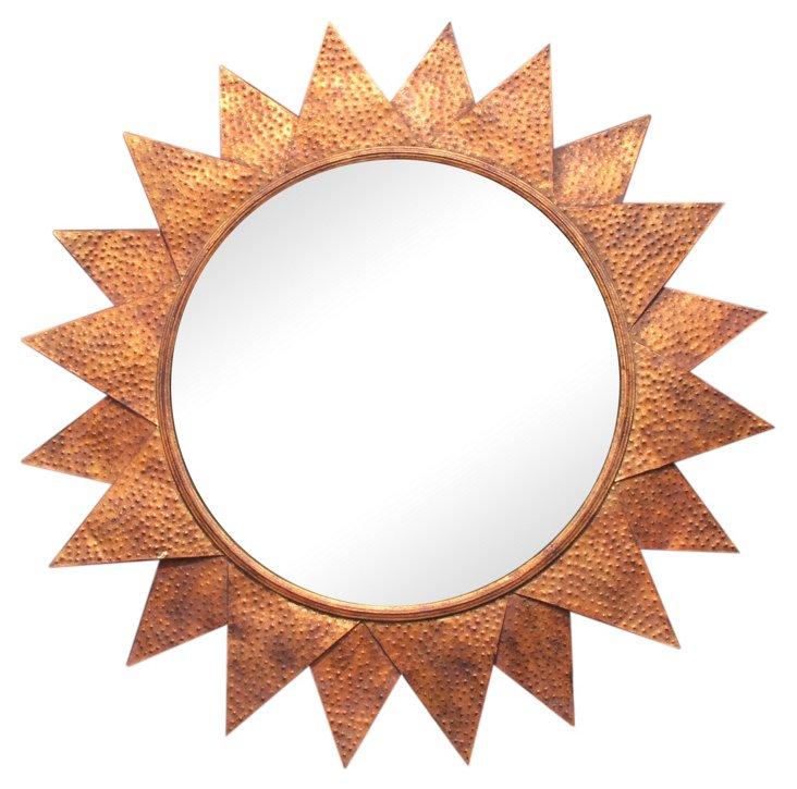 Silerton Wall Mirror, Copper Leaf