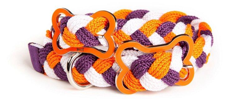 Knot Collar , Plum/Orange