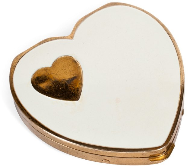 1940s Heart Compact