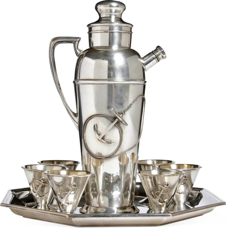 Silver-Plated Cocktail Set, 8 Pcs.