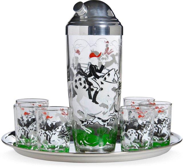 Fox Hunt Cocktail Shaker Set, 8 Pcs.
