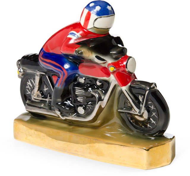 Vintage Motorcycle Racer Decanter