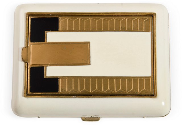 Art Deco Cigarette Case/Compact Combo