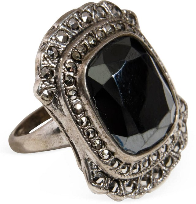 Sterling Silver & Marcasite Ring