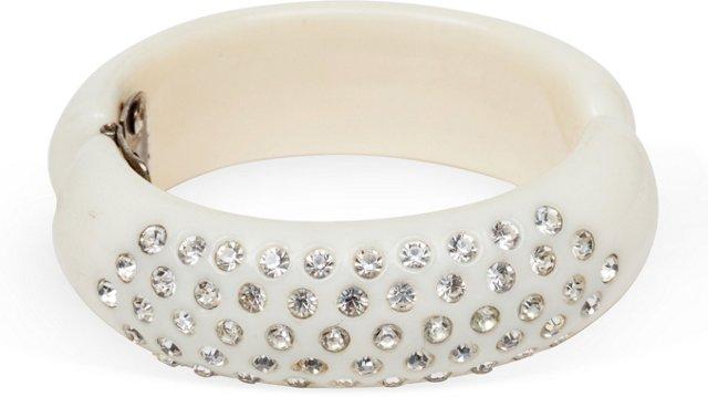 Clear Rhinestone Nylon Bracelet