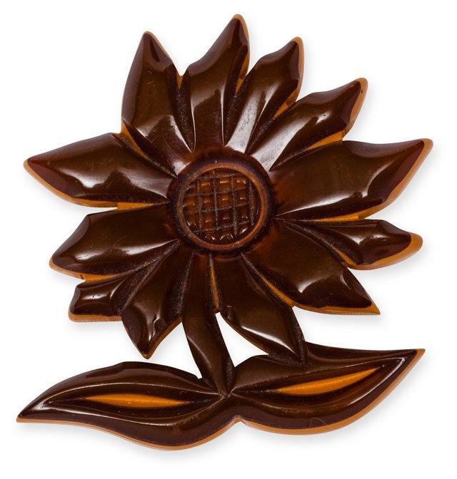 Laminated Bakelite Flower Pin