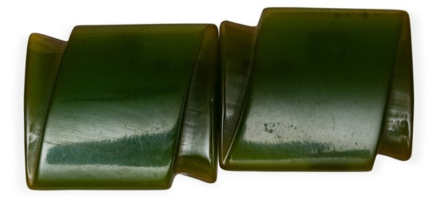 Bright Green Bakelite Buckle