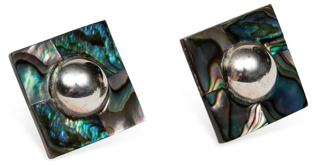 Sterling & Abalone Shell Earrings
