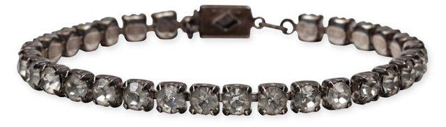 Clear Rhinestone & Sterling Bracelet