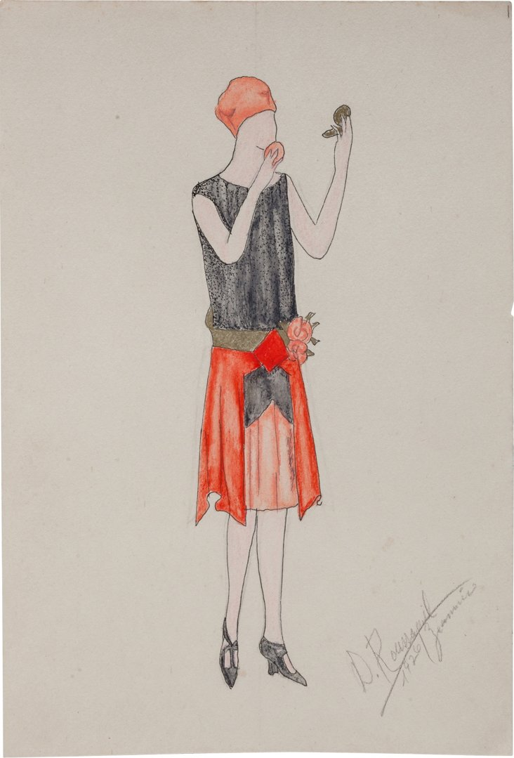 French Fashion Drawing, 1926, VI