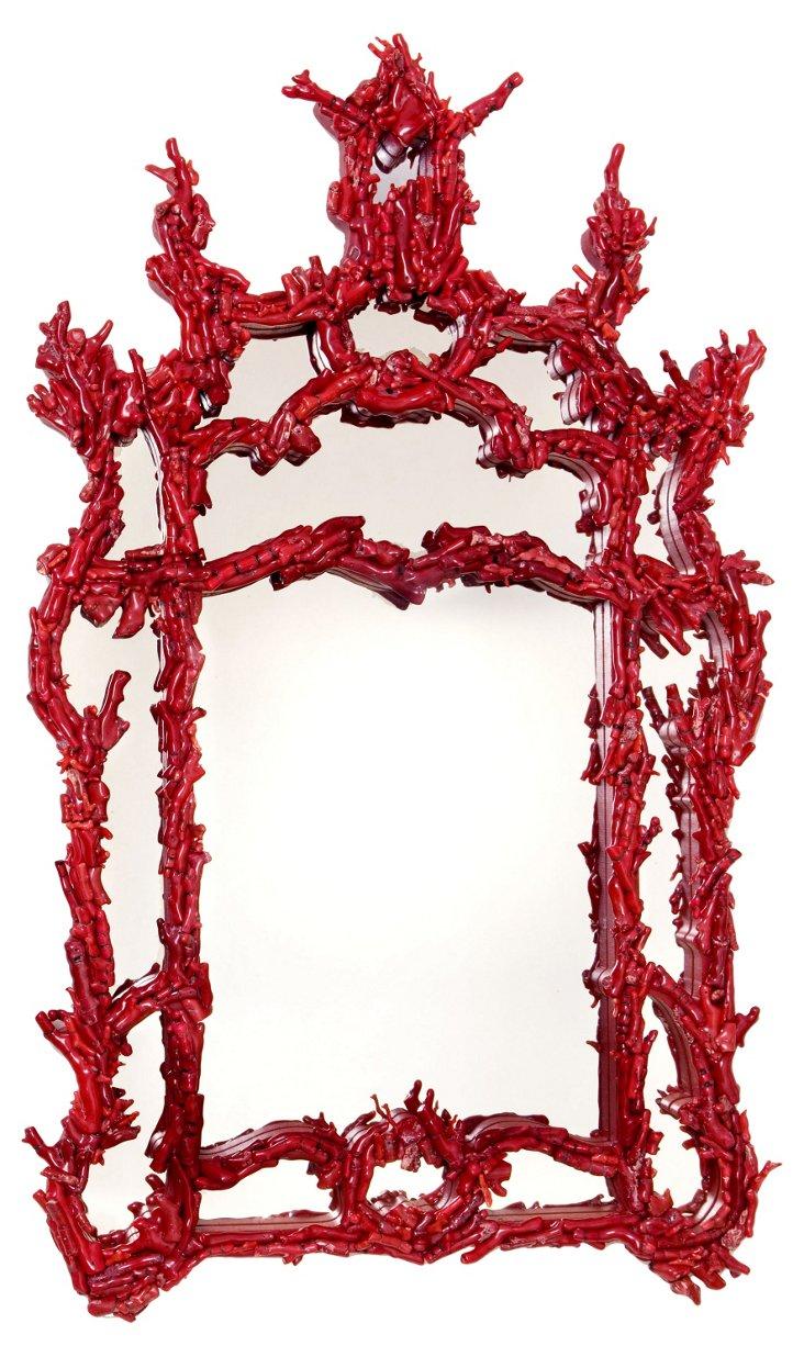 Marjorie Skouras Red Pompidou Mirror II