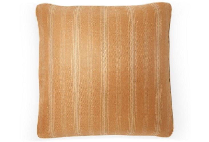 Casey Stripe 20x20 Pillow, Saffron