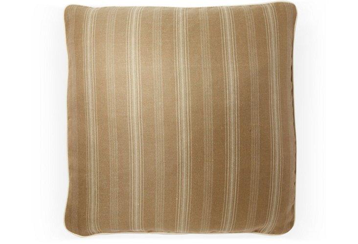Casey Stripe 20x20 Pillow, Café