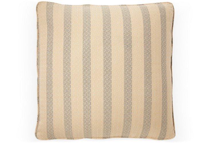 Meander 20x20 Pillow, Black Sea