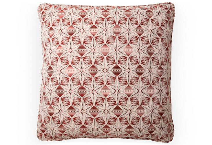 Polaris Pillow, Brick Red