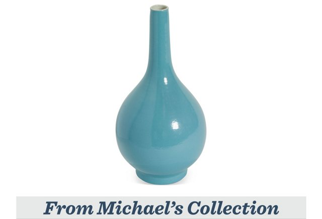 Pearl Vase, Turquoise
