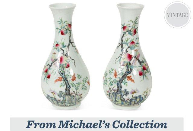 Japanese Vases, Pair