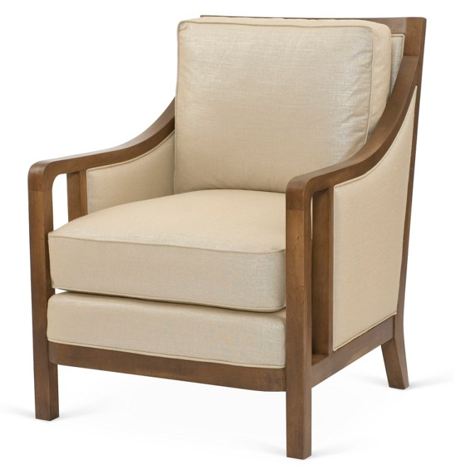 Halwood Accent Chair, Natural