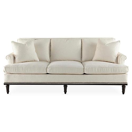 "Garbo 85"" Sofa, Pearl Linen"