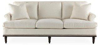 Garbo Sofa, Pearl Linen