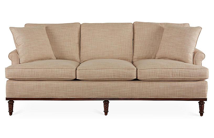 Garbo Sofa, Sand Crypton