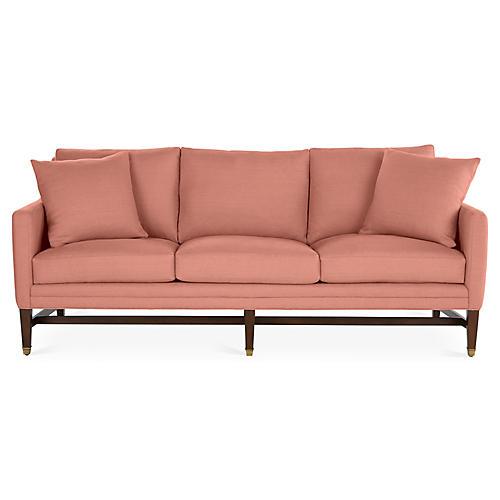 Arden Sofa, Rose Linen