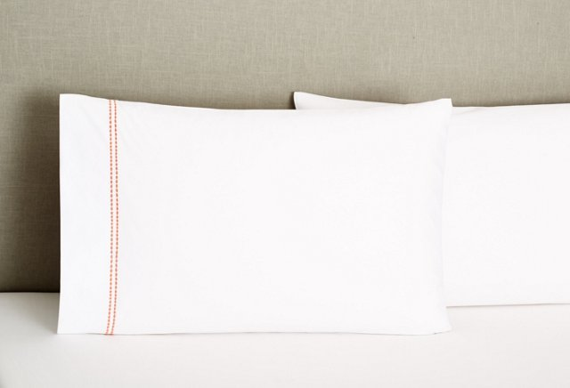 S/2 Peregrina Std Pillowcases, Coral