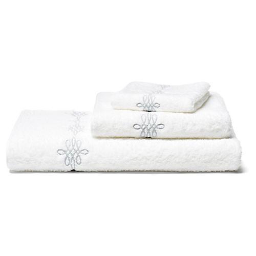 Bernini 3-Pc Towel Set, Silver