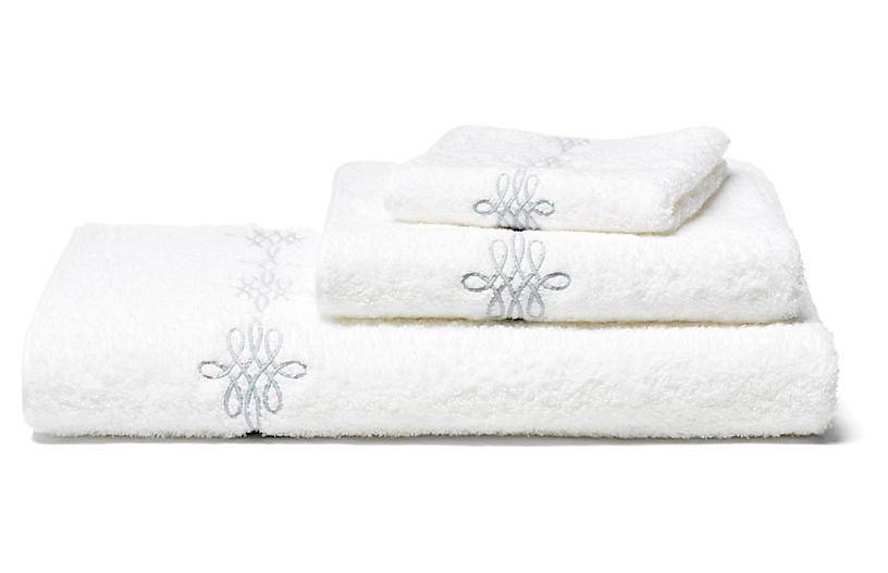 Bernini 3-Pc Towel Set, Silver