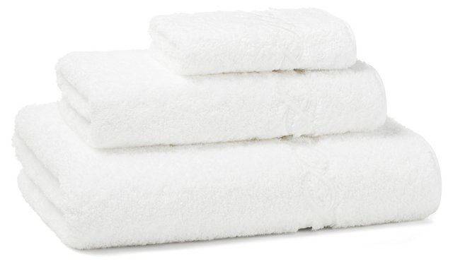 3-Pc Venezia Towel Set, White