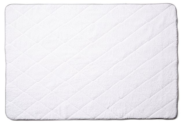 Quilted Tub Mat, Silver