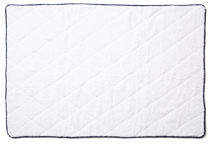 Quilted Tub Mat, Navy