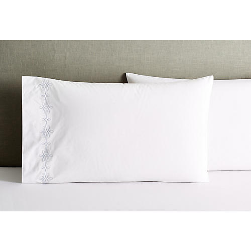 S/2 Bernini Standard Pillowcases, Blue