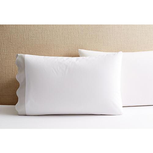 S/2 Katarina Pillowcases, Silver