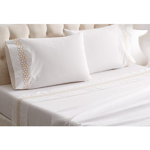 Cleo Sheet Set, Champagne