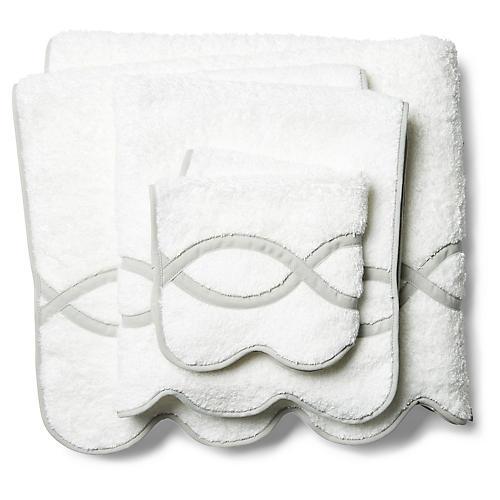 3-Pc Gianna Towel Set, Silver