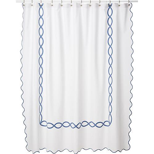 Gianna Shower Curtain, Blue
