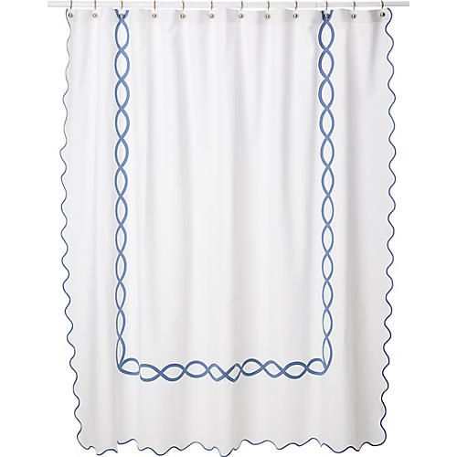 Gianna Shower Curtain Blue