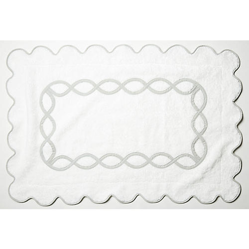 Gianna Bath Mat, Silver
