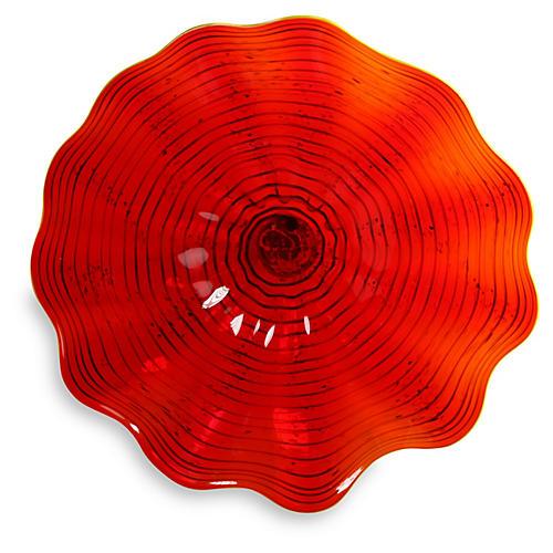 """17"""" Art Glass Wall Decor, Red"""