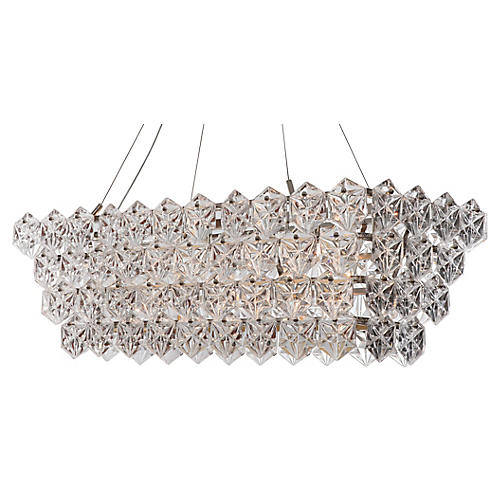 14-Light Overture Chandelier, Nickel