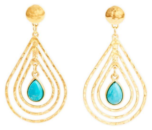 Nesting Turquoise Earrings