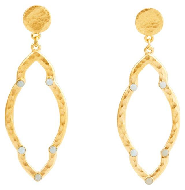 Marquise Dangle Earrings, Amazonite
