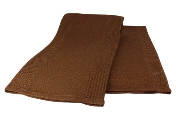 S/4 Bamboo Dish Towels, Espresso