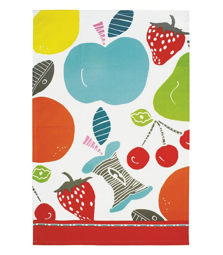 S/4 Dish Towels, Fruit