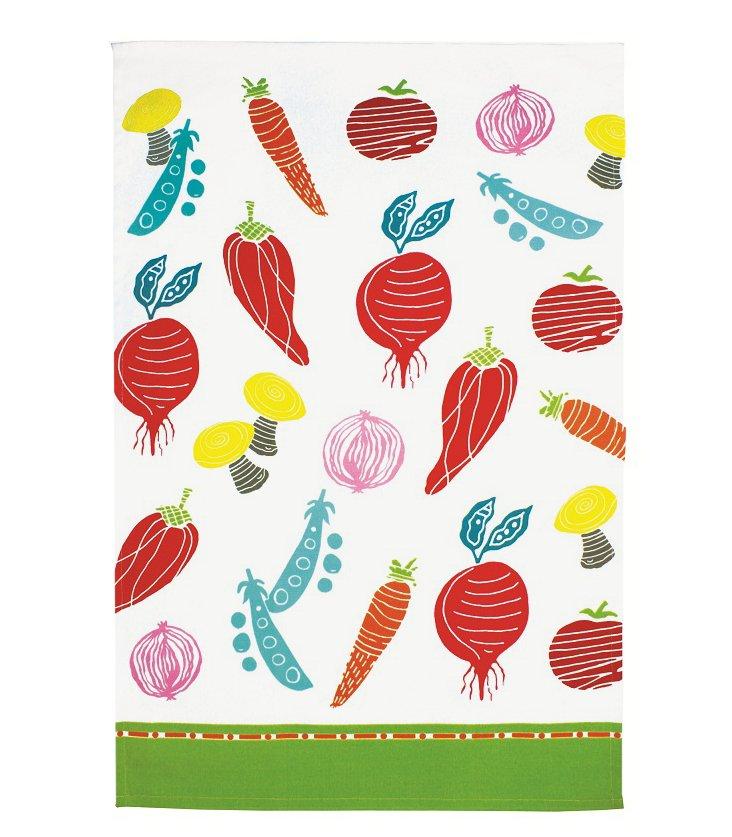 S/4 Dish Towels, Veggie