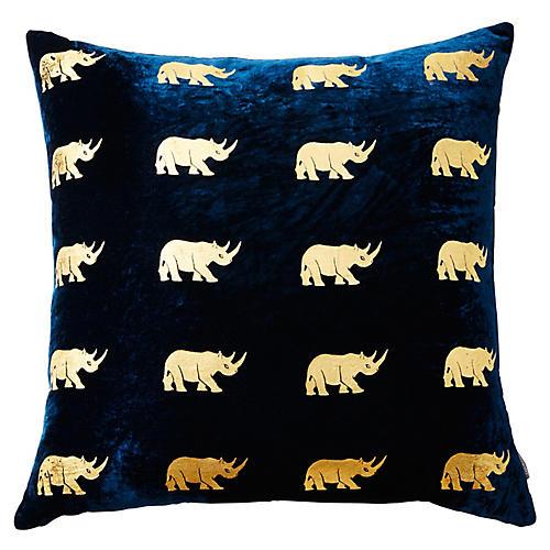 Arusha 22x22 Silk Velvet Pillow, Blue
