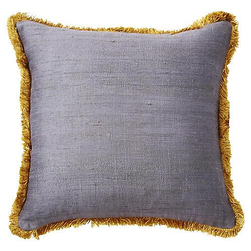 Romilly 16x16 Silk Pillow, Gray