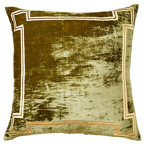 Aria 24x24 Pillow, Green